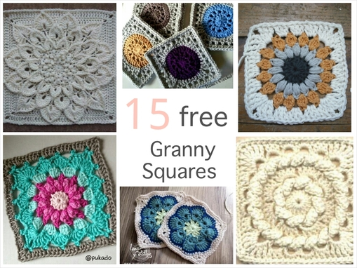 Wednesdays Free Crochet Pattern Round Up Granny Squares